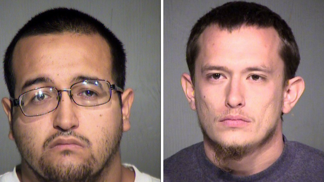 Left: Ysidro Placencia, 24 second suspect arrested in Mesa double homicide. Right: Arturo Perez, 22, first suspect arrested in Mesa double homicide. (Source: Maricopa County Sheriff's Office)