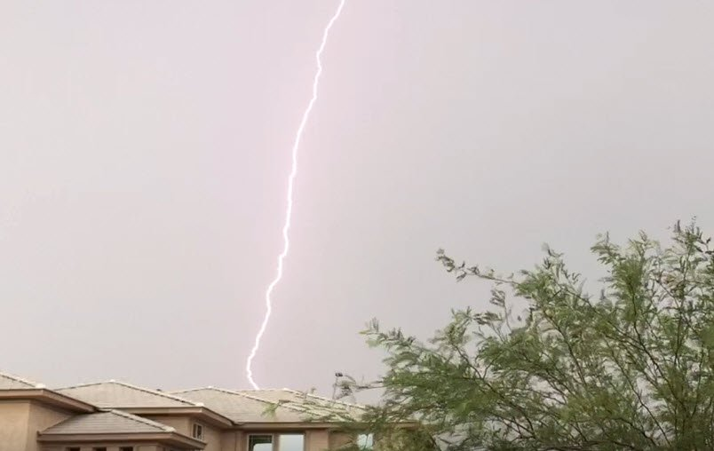 Lightning near New River (Source: 3TV/CBS 5)