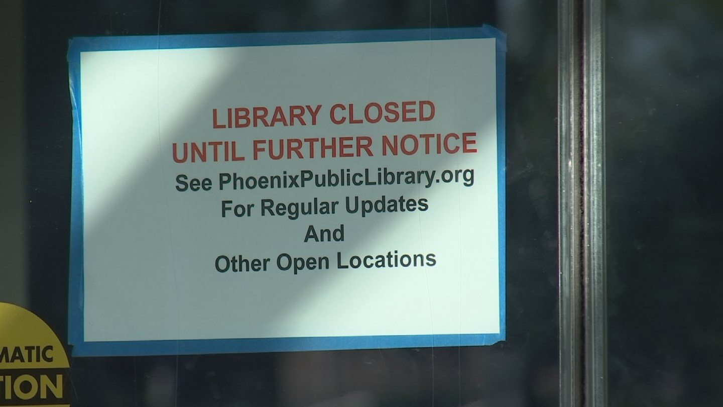 The library has been closed since the flooding. (Source: 3TV/CBS 5)