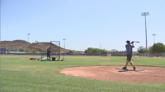 Derby Champ Nolan Gorman Gets Back to Work at Sandra Day O'Connor High School. (Source: 3TV/CBS 5)