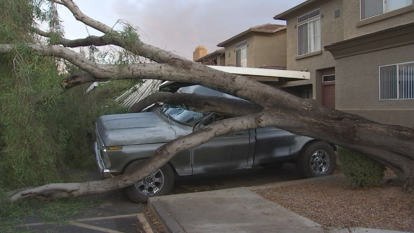 Monsoon storms can leave costly damage. (17 July 2017) [Source: 3TV/CBS5]