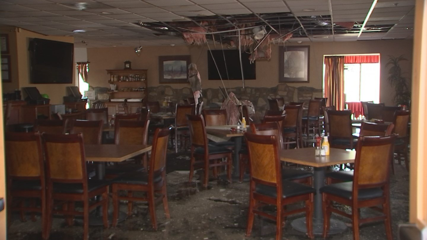 The club house at the Desert Canyon Golf Club was damaged by recent storms. (17 July 2017) [Source: 3TV/CBS5]