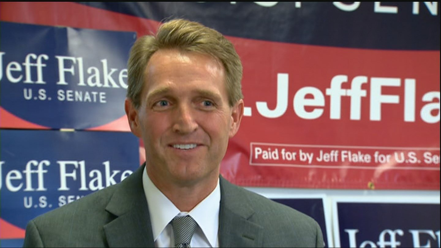 A conservative Republican who is running to unseat Arizona Sen. Jeff Flake said Monday she has met with White House officials about the campaign. (Source: 3TV/CBS 5)