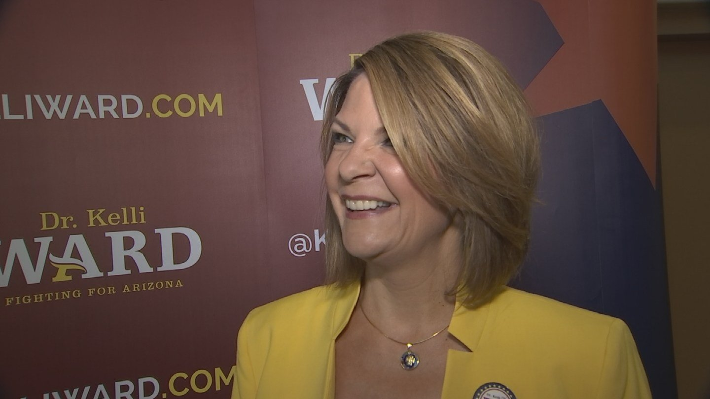 """I was encouraged,"" Kelli Ward said of the meeting, but she wouldn't divulge details of what was discussed or who attended the sit-down. (Source: 3TV/CBS 5)"