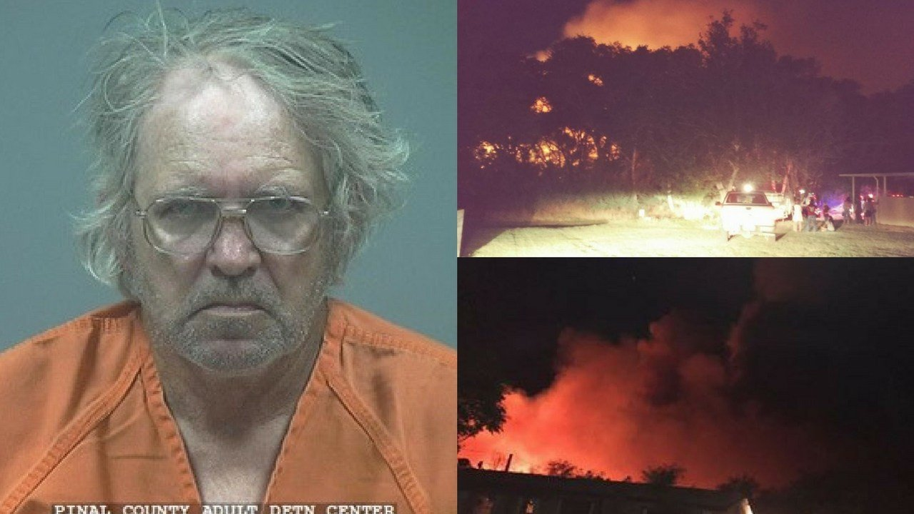 The Pinal County Sheriff's Office arrested a man for his alleged involvement in connections to the Roach Fire. (Source: 3TV/CBS 5)