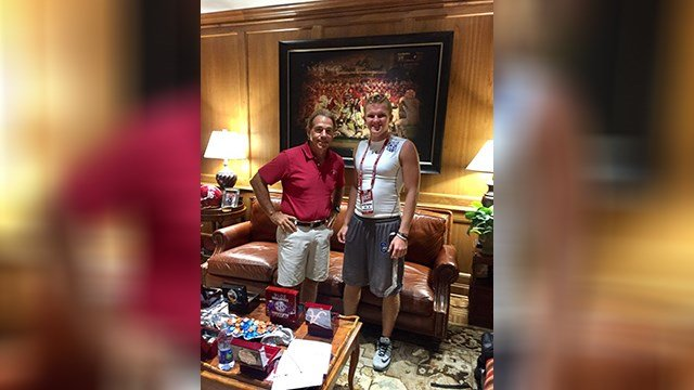 Alabama Coach Nick Saban has offered a scholarship to Chandler's Jacob Conover. (Source: twitter.com/jacob_conover17)