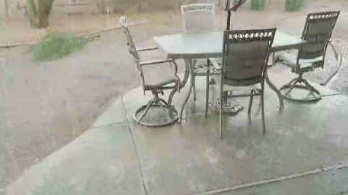 The rain came down in sheets in certain parts of the Valley. (Source: 3TV/CBS 5)