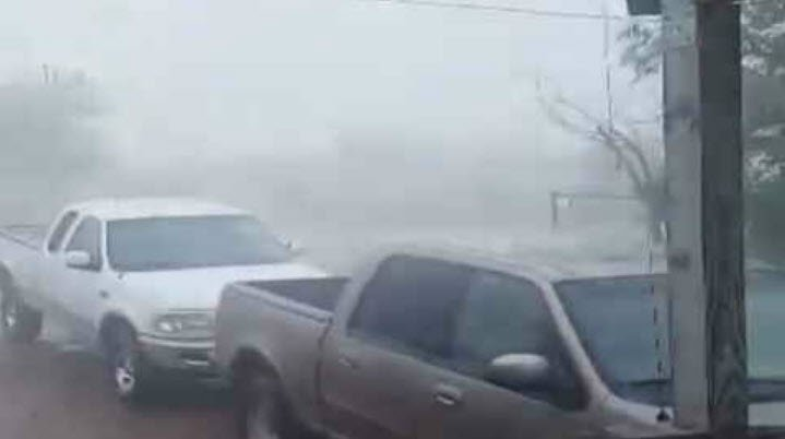 People in the town of Snowflake got hit hard with rain and wind. (Source: 3TV/CBS 5)