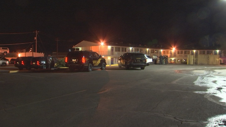 Late Tuesday night, a bondsman was taking a suspect into custody at a Motel 6 near 111th Avenue and Grand Avenuein Sun City. (Source: 3TV/CBS 5)