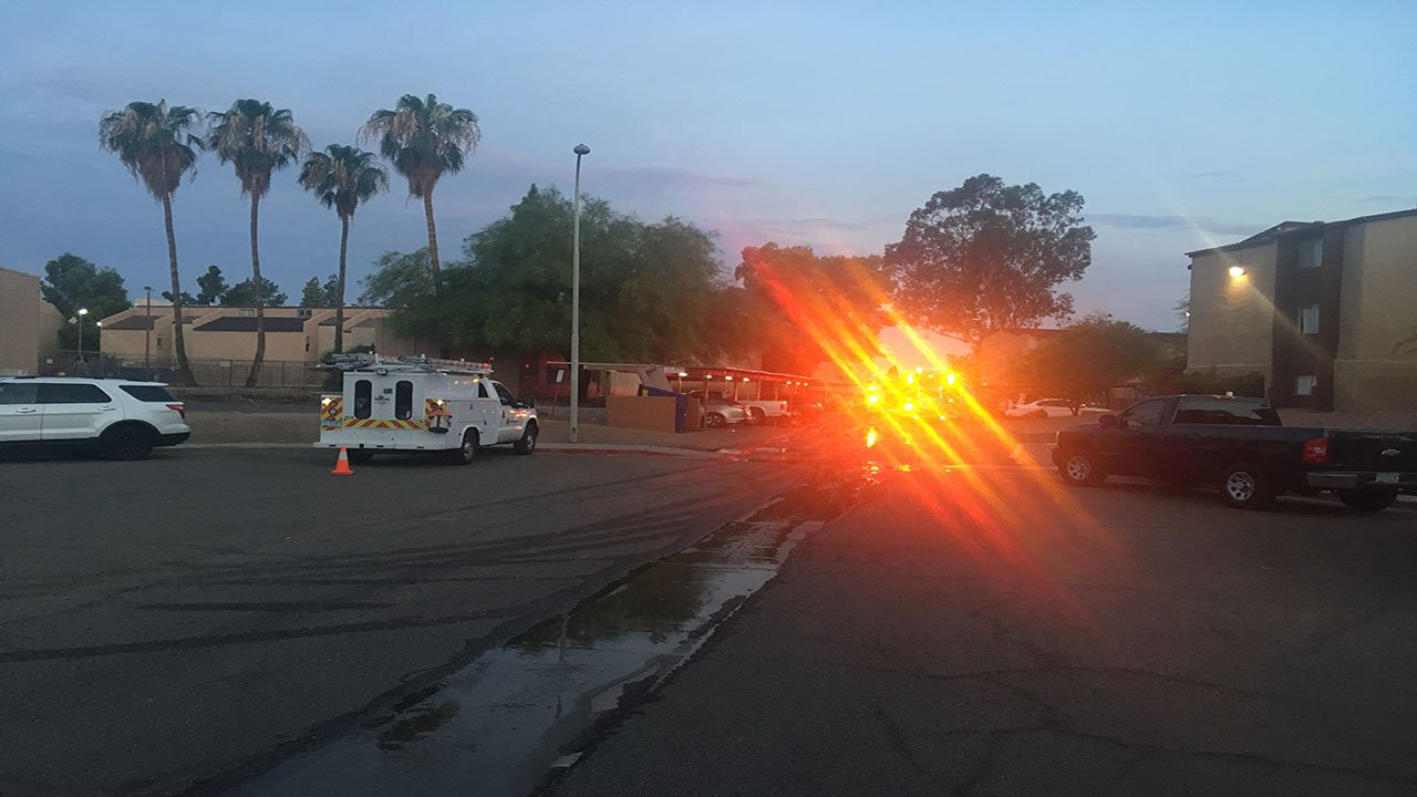 Phoenix fire put out a fire in an apartment complex's storage room Wednesday morning. (Source: 3TV/CBS 5)
