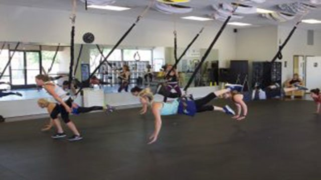 Originally from Thailand, bungee workouts are becoming increasingly popular in the United States. (Source: Reinert Toft/Cronkite News)