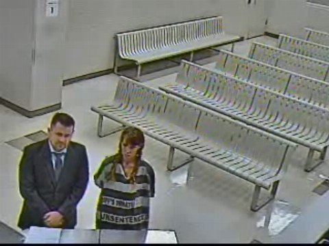 Anderson stood quietly by her lawyer during her initial court appearance. (Source: Maricopa County Superior Court)
