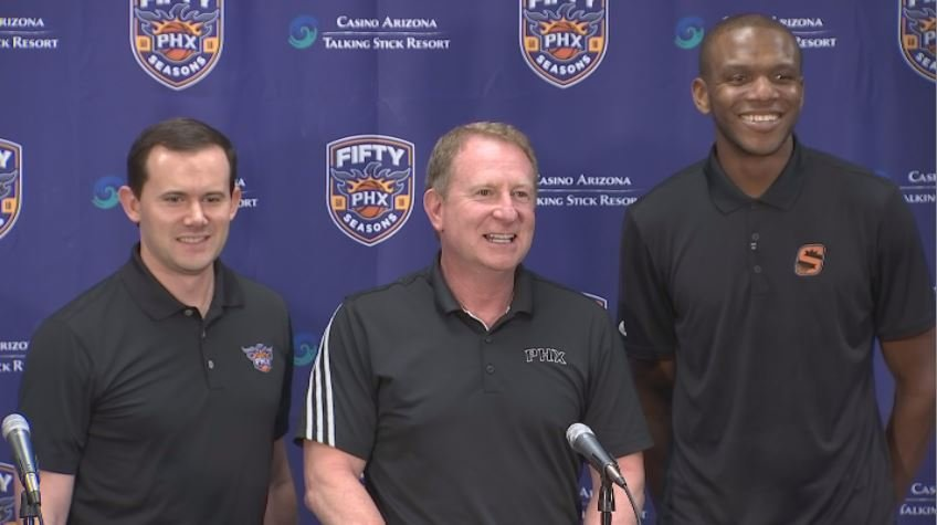 Phoenix Suns general manager Ryan McDonough has a new three-year contract and an additional front office helper in longtime NBA player James Jones. (Source: 3TV/CBS 5)