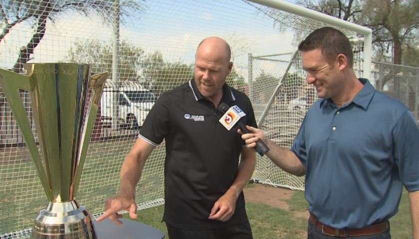 Former U.S. Men's soccer goalie Brad Friedel previews the Gold Cup mathups in Glendale. (Source: 3TV/CBS 5)