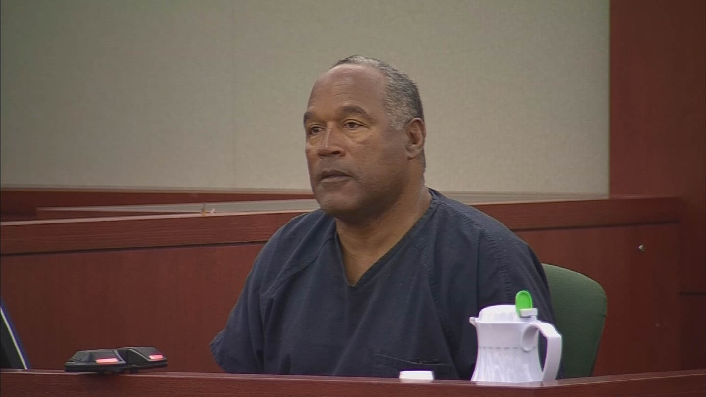 He's spent more than eight years behind bars for armed robbery and assault with a weapon after trying to take back sports memorabilia in a budget hotel room in Las Vegas. (Source: CNN)