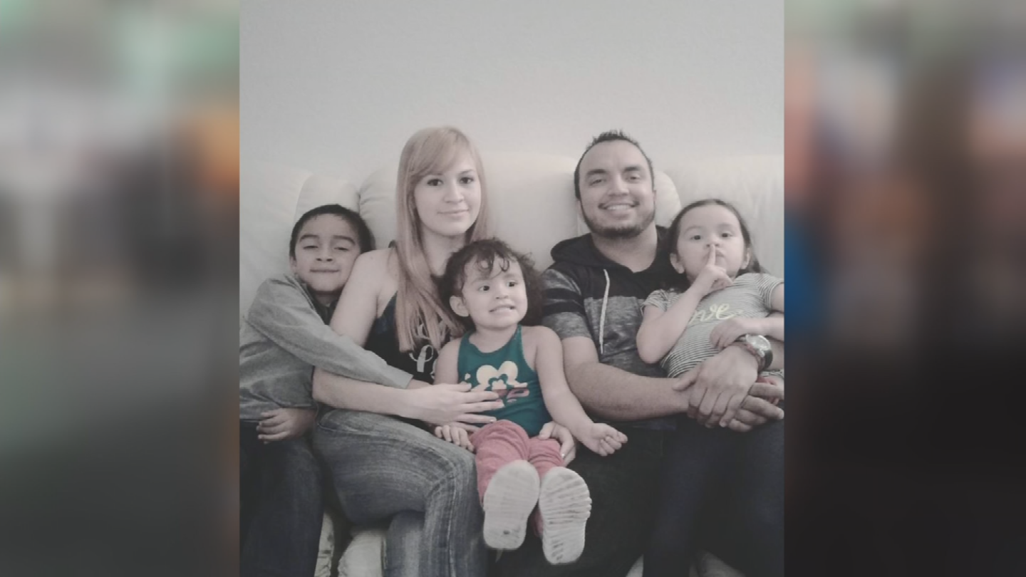 Hector Miguel Garnica with his wife Maria Raya-Garcia and their three kids Hector Daniel, 7, Mia, 5, and Emily, 3. (Source: Iris Garnica)