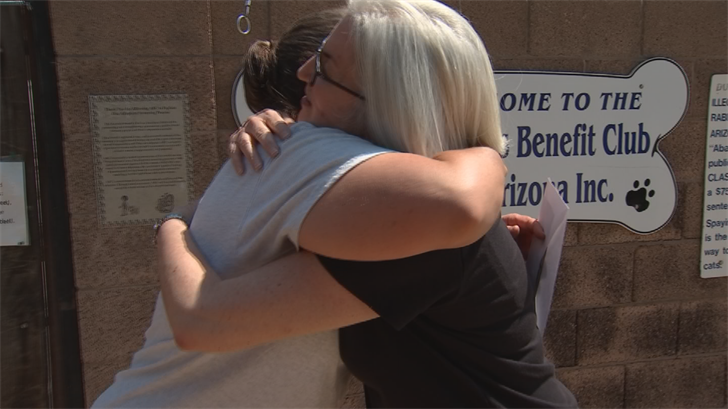 Fellow volunteer Kelly Rostan has seen what a difference Cline is making with the animalsand in the community, sometimes spending more than 30 hours a week helping out.Rostan reached out to CBS 5 to Pay it Forward to Cline. (Source: 3TV/CBS 5)