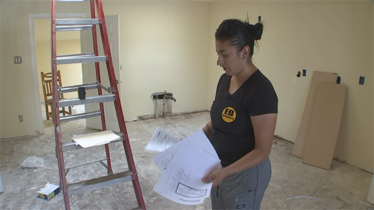 Itzel Abarca's latest project is her Phoenix home, and now that it's been completely gutted, Abarca's first goal is to have someone start remodeling. (Source: 3TV/CBS 5)