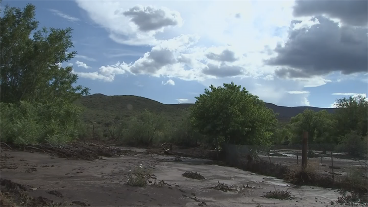 The Goodwin Fire scar can be seen from his backyard. That burn area is a big factor in the devastating floods in Mayer, with no vegetation to soak up even minimal rainfall.(Source: 3TV/CBS 5)