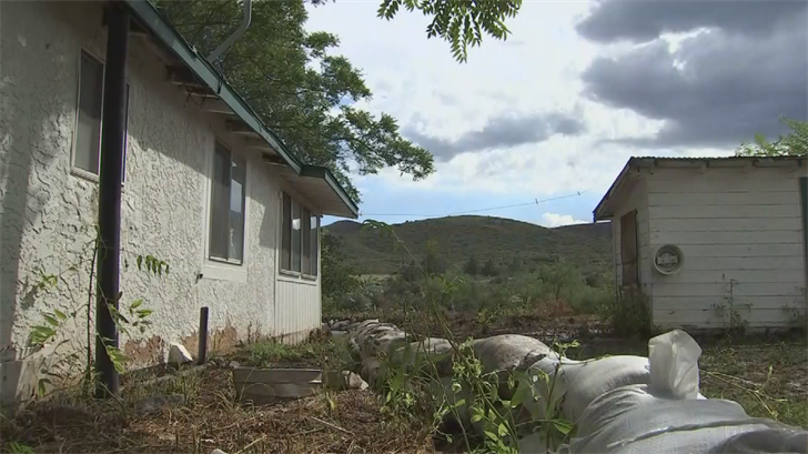 He moved extra sandbags around his home, but his work is far from over.(Source: 3TV/CBS 5)