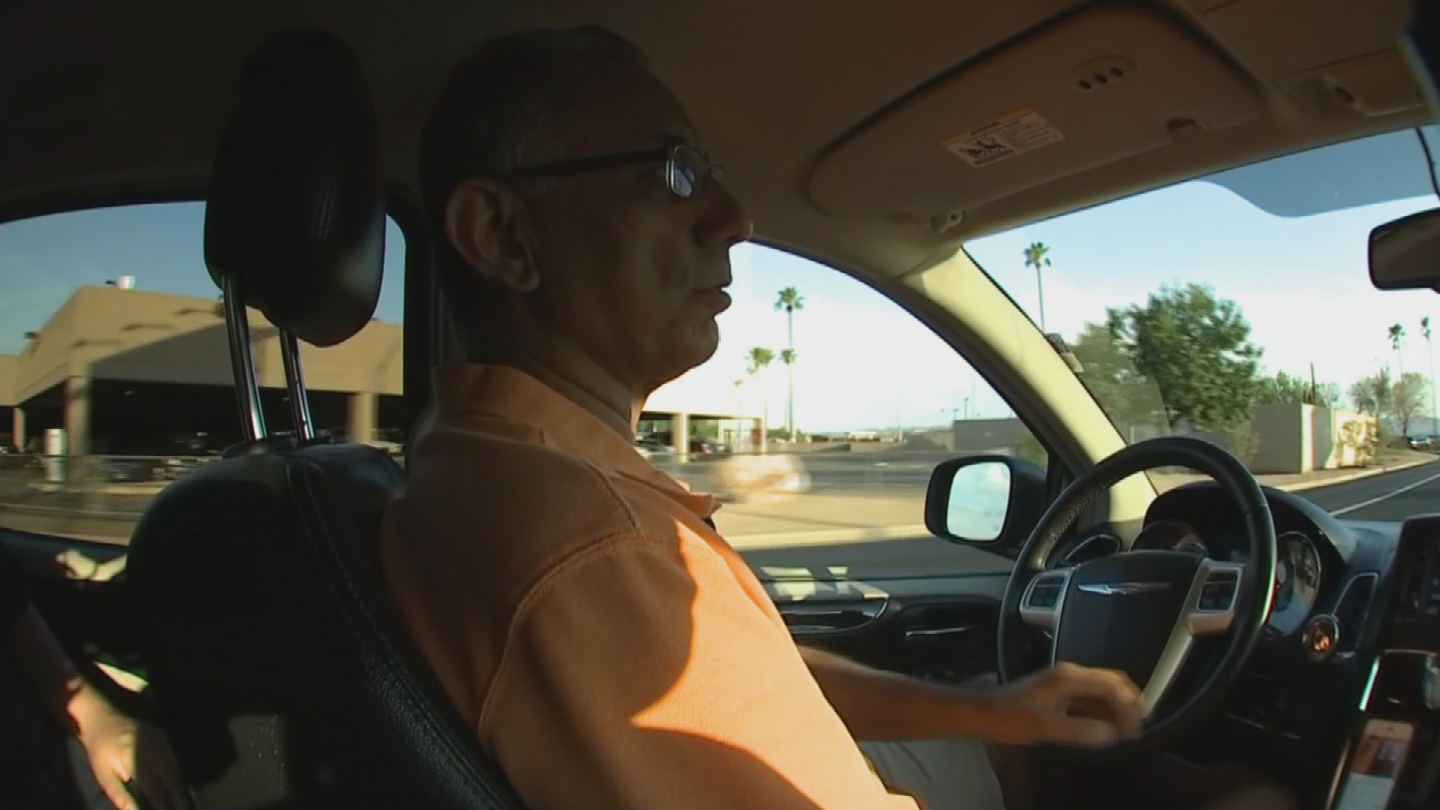 Phoenix Uber driver Hemat Sharma drove four minor leaguers to their game -- in Albuquerque. (Source: 3TV/CBS 5)