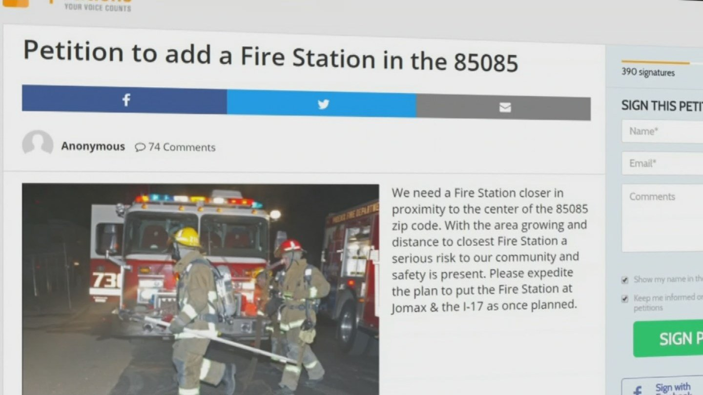 Phoenix neighborhood wants fire station. (July 21, 2017) [Source: 3TV/CBS5]