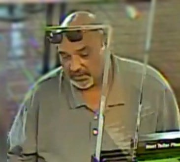 The suspect is described as a white man, 50 to 60 years old, 6', 300 lbs. and has a goatee. (Source: Silent Witness)