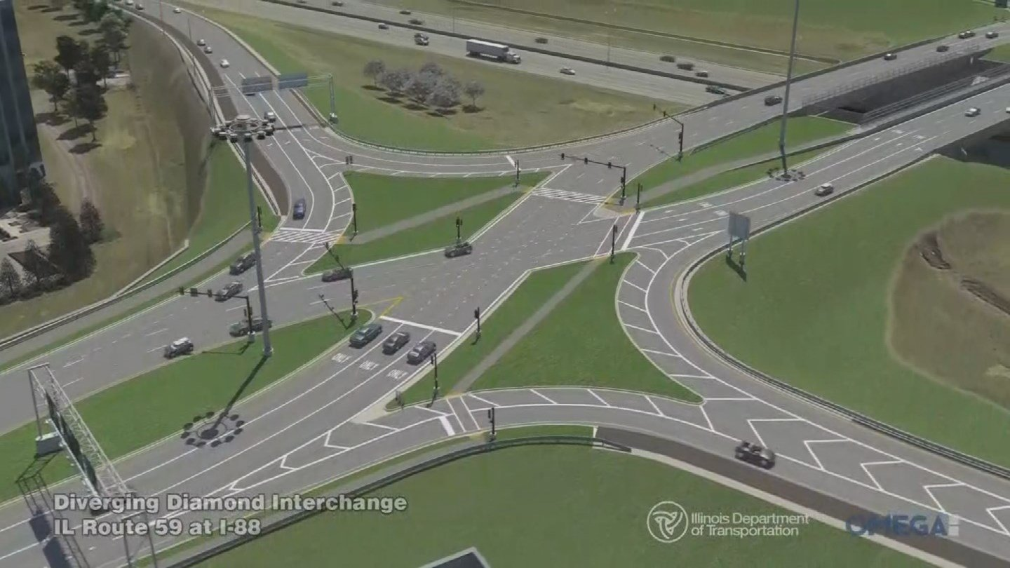 The Arizona Department of Transportation will host an informational meeting about the proposed diverging diamond interchange for Interstate 17 at Happy Valley Road. (Source: ADOT)