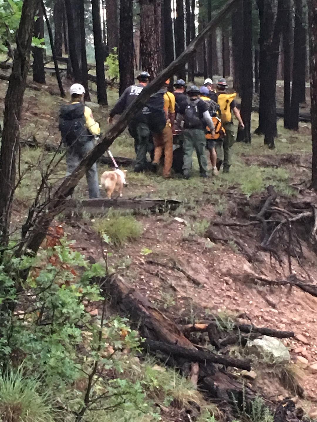 The man activated his GPS locator beacon at about 11:40 a.m. and his location was sent to the U.S. Air Force Rescue Coordination Center who then alerted the State of Arizona. (Source: Coconino County Sheriff's Office)