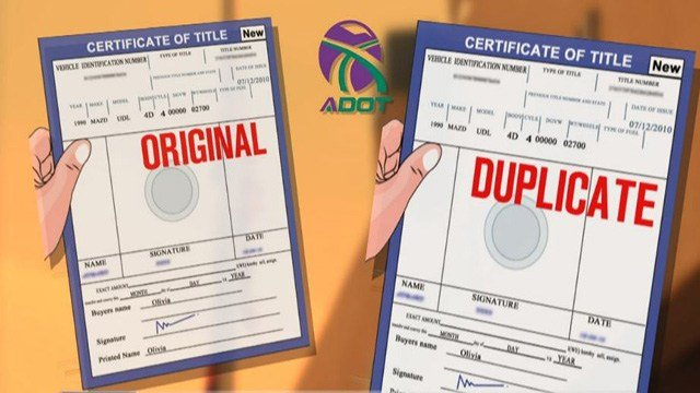Don't be duped by a duplicate auto title. (July 24, 2017) [Source: 3TV/CBS 5]
