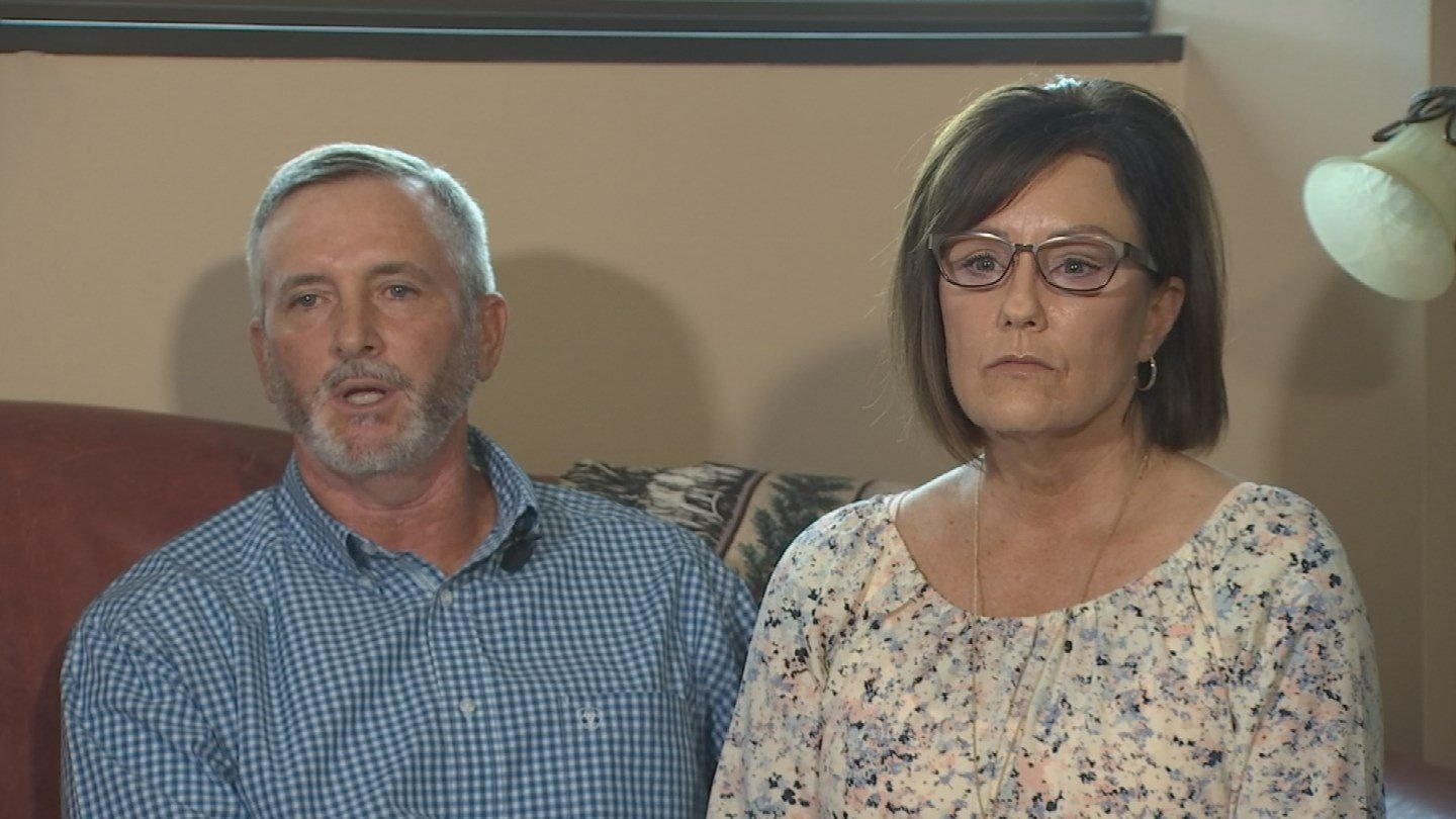 Larry and Kim Moore, parents of Brad Moore. (July 24, 2017) [Source: 3TV/CBS 5]