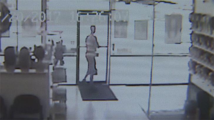 A thief was caught on camera stealing a donation box. (Source: 3TV/CBS 5)