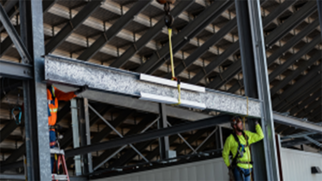 A steel beam was installed at Phoenix International Raceway that is part of a new entryway. (Source: Phoenix International Raceway)