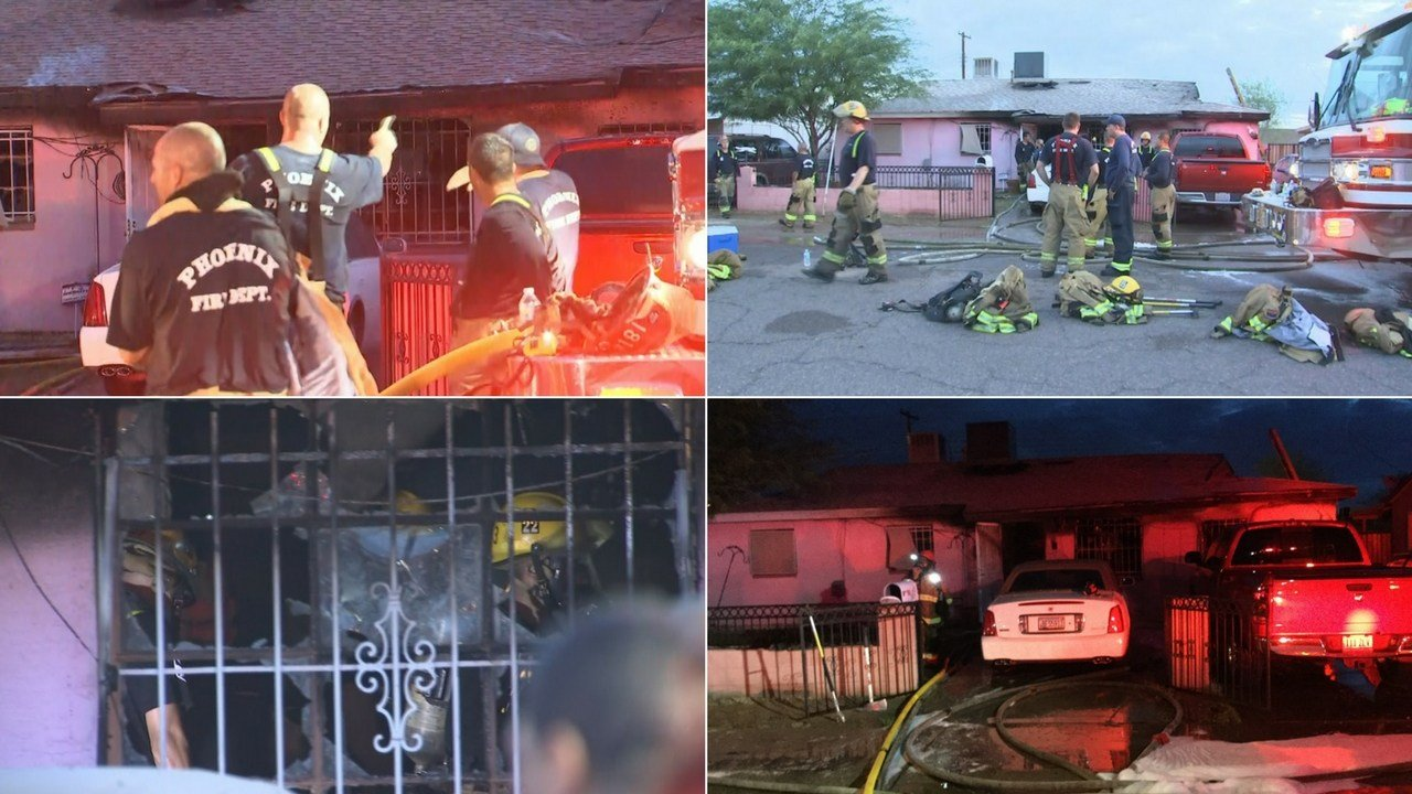 A man was found dead inside a south Phoenix house fire early Tuesday morning, according to Phoenix fire. Two other adults were also transported with injuries sustained from the fire. (Source: 3TV/CBS 5)