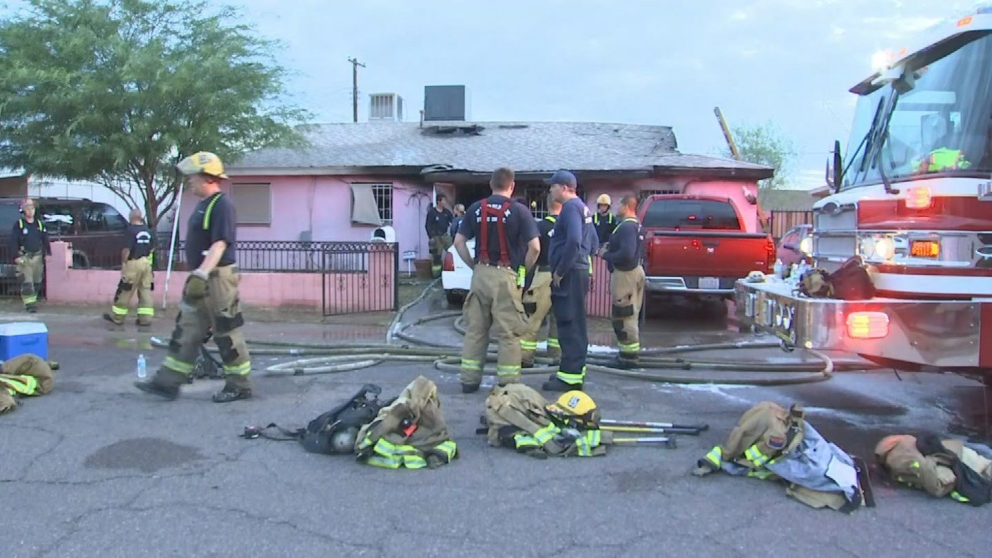 Firefighters conducted another search and found one adult male in his 40s inside the burned home. (Source: 3TV/CBS 5)