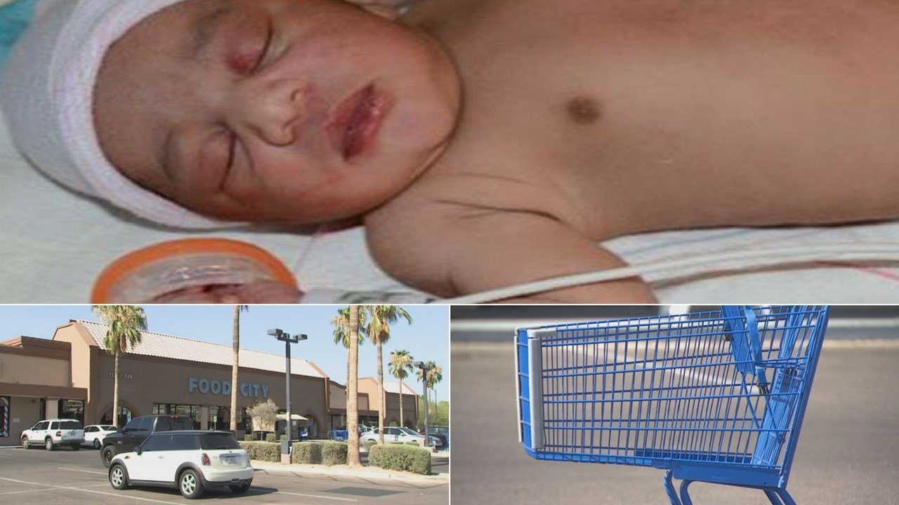 The Tempe Police Department released body-camera video of officers and firefighters at the scene where a baby was found abandoned inside a grocery cart. (Source: 3TV/CBS 5)