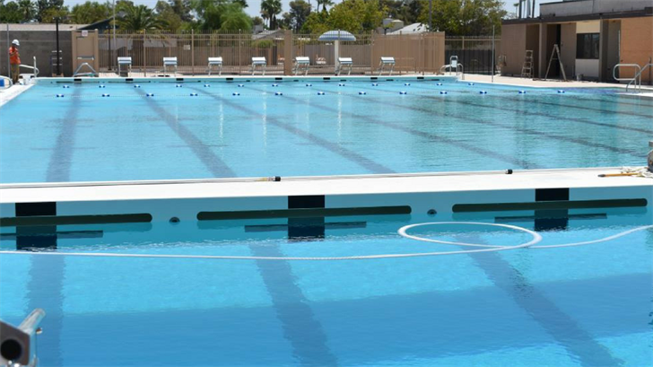 Lap lanes at the McClintock Pool. (Source: City of Tempe)