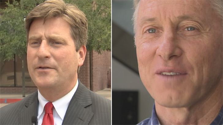 Phoenix Mayor Greg Stanton, left, and Mesa Mayor John Giles, right. (Source: 3TV/CBS 5)