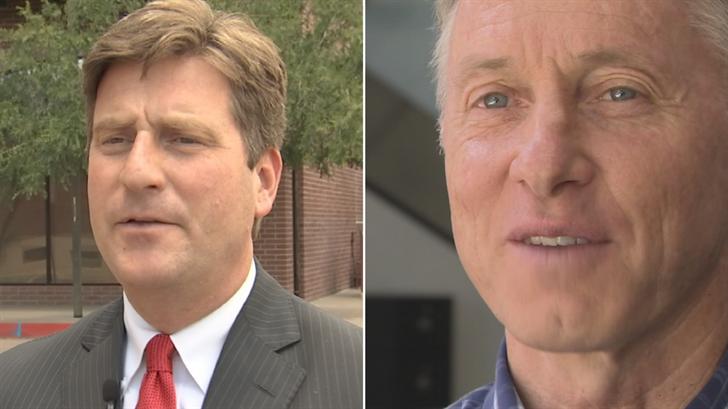 Phoenix Mayor Greg Stanton, left, and Mesa Mayor John Giles, right. (Source: 3TV/CBS 5)