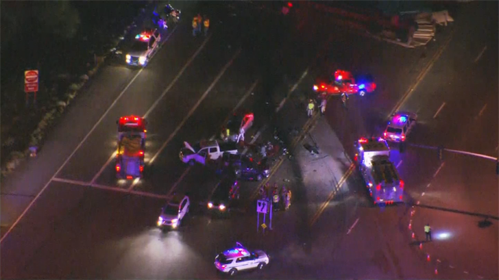 It appears there were several vehicles involved. (Source: 3TV/CBS 5)