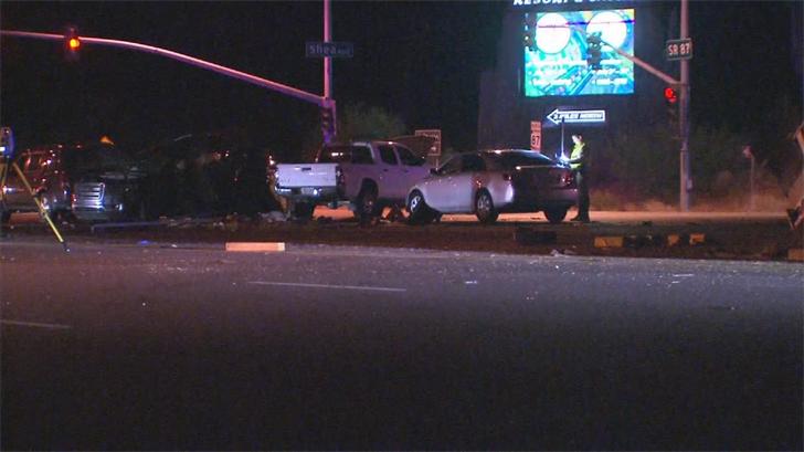 The highway was partially closed for hours. (Source: 3TV/CBS 5)