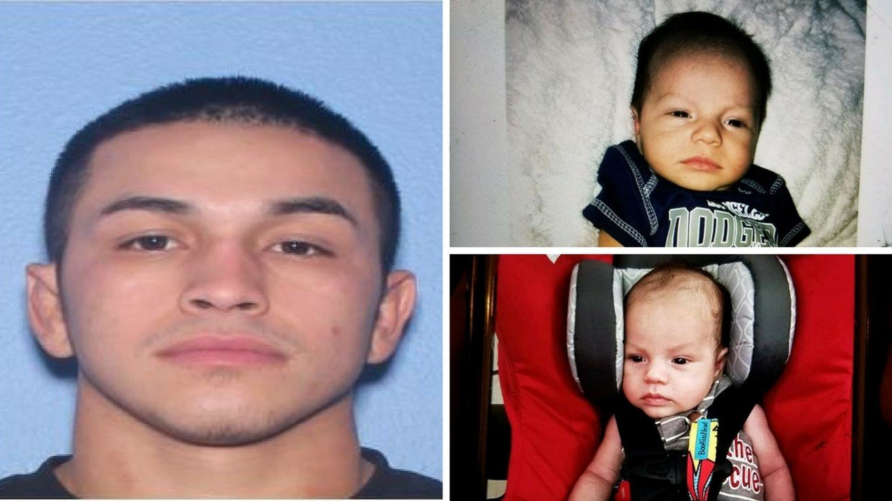 Alfredo Lopez, 23 (left) accused of abducting 1-month-old Israel Lopez from Yuma. (Source: Arizona Department of Transportation/Yuma Police Department)
