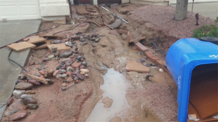 The City of Phoenix will soon warn hundreds of people in Ahwatukee that their homes or businesses are at an elevated risk of floodingand will encourage them to get flood insurance. (Source: 3TV/CBS 5)
