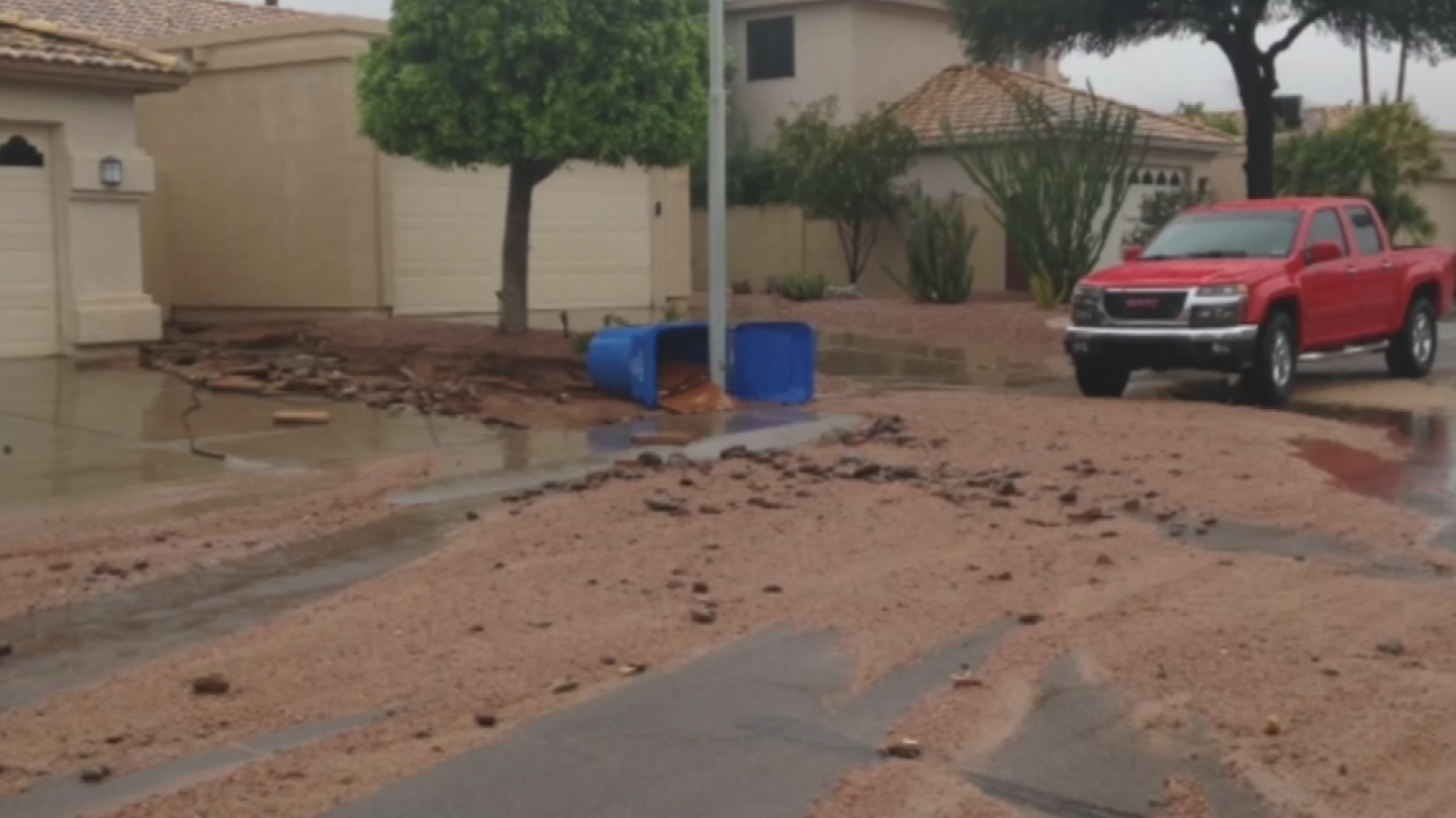 A recently completed three-year study by the Maricopa County Flood Control District identified 520 homes, businessesand commercial buildings that are located in flood-prone areas. (Source: 3TV/CBS 5)
