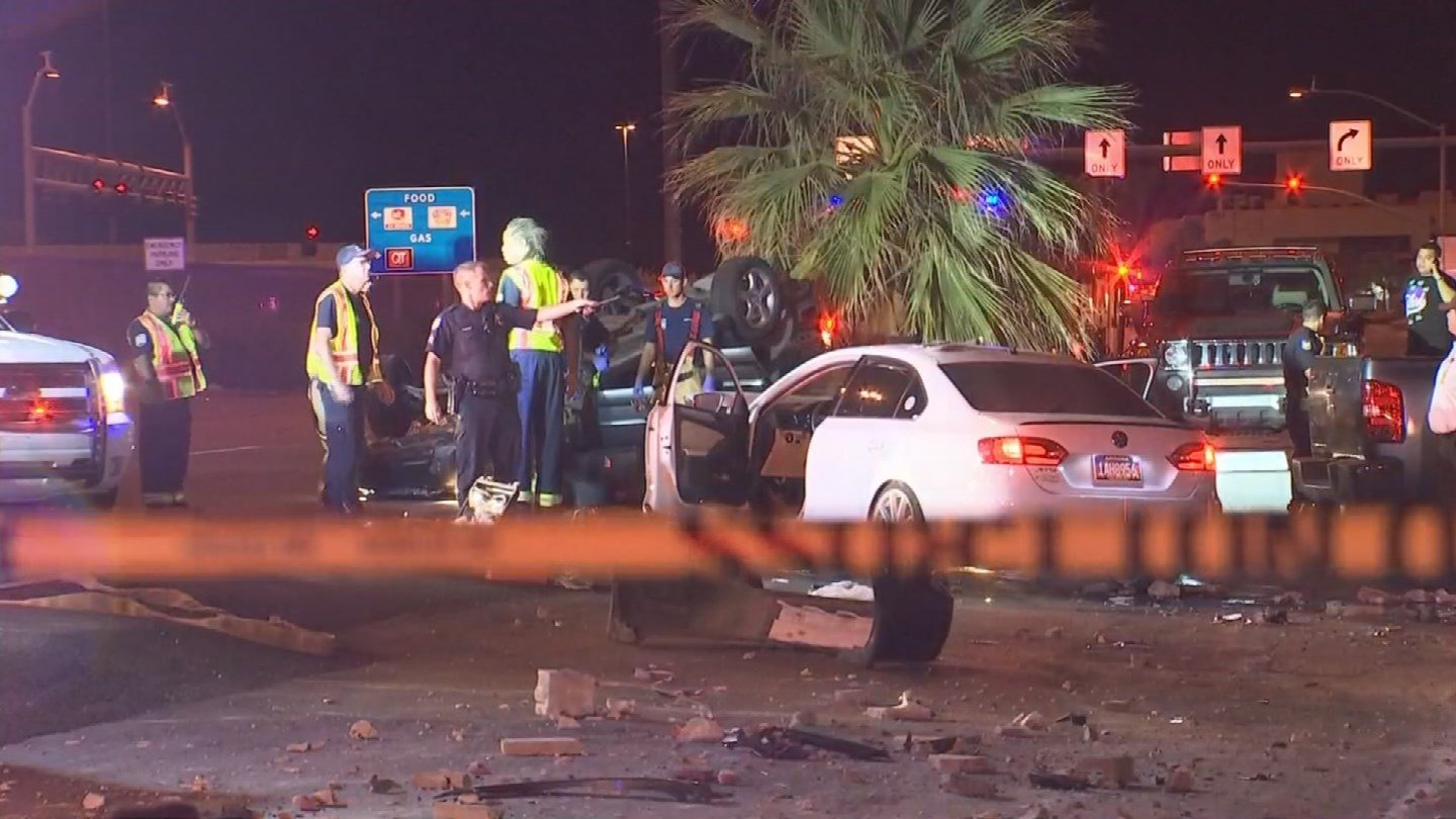 One man has died and another is in critical condition after a collision on an Interstate 17 frontage road in Phoenix. (Source: 3TV/CBS 5)