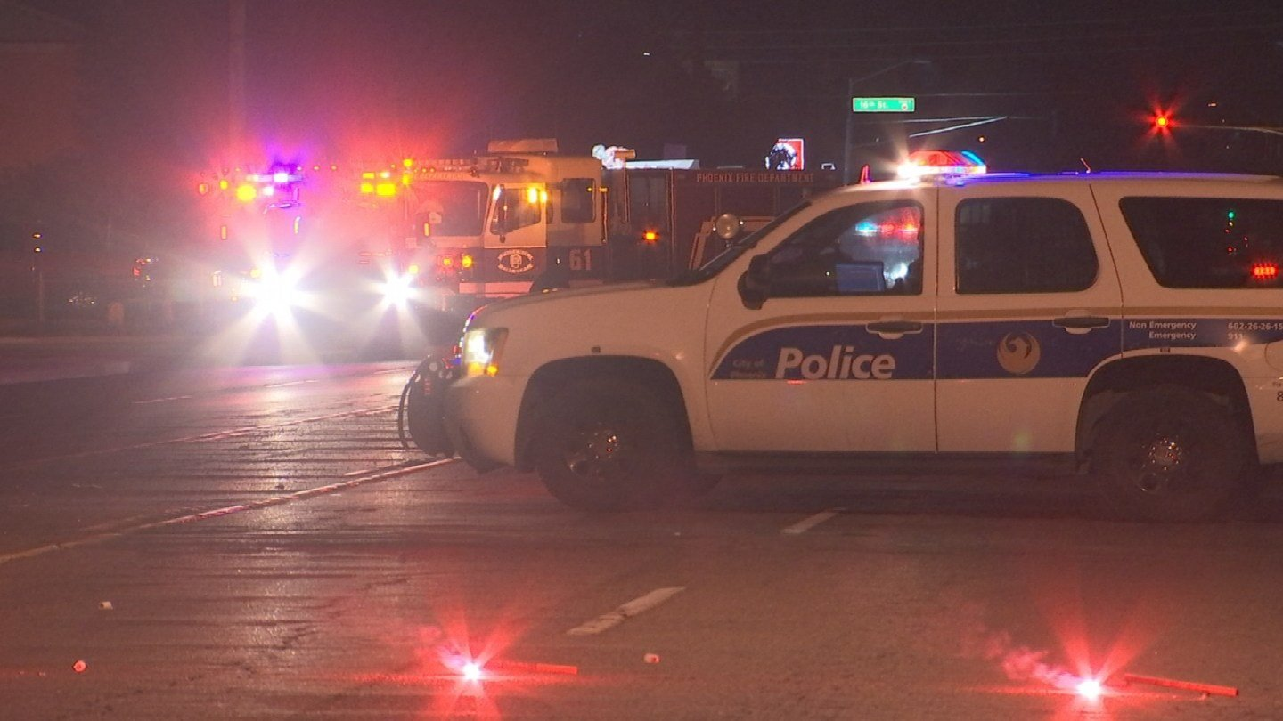 A 51-year-old man was struck and killed in Phoenix while walking in the roadway, according to Phoenix police.  (Source: 3TV/CBS 5)