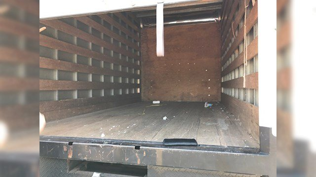 The stolen truck was recovered, but all the contents were gone. (Source: Paul Folk)