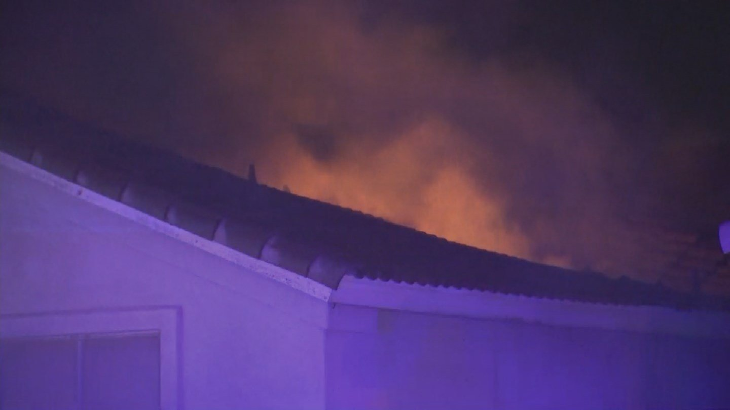 Several fire crews responded to the fire as it quickly spread throughout the attic and home. (Source: 3TV/CBS 5)