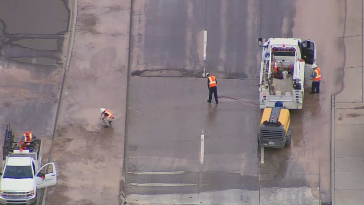 Southern Avenue was closed at Price Road on Friday morning because of water main break. (Source: 3TV/CBS 5)