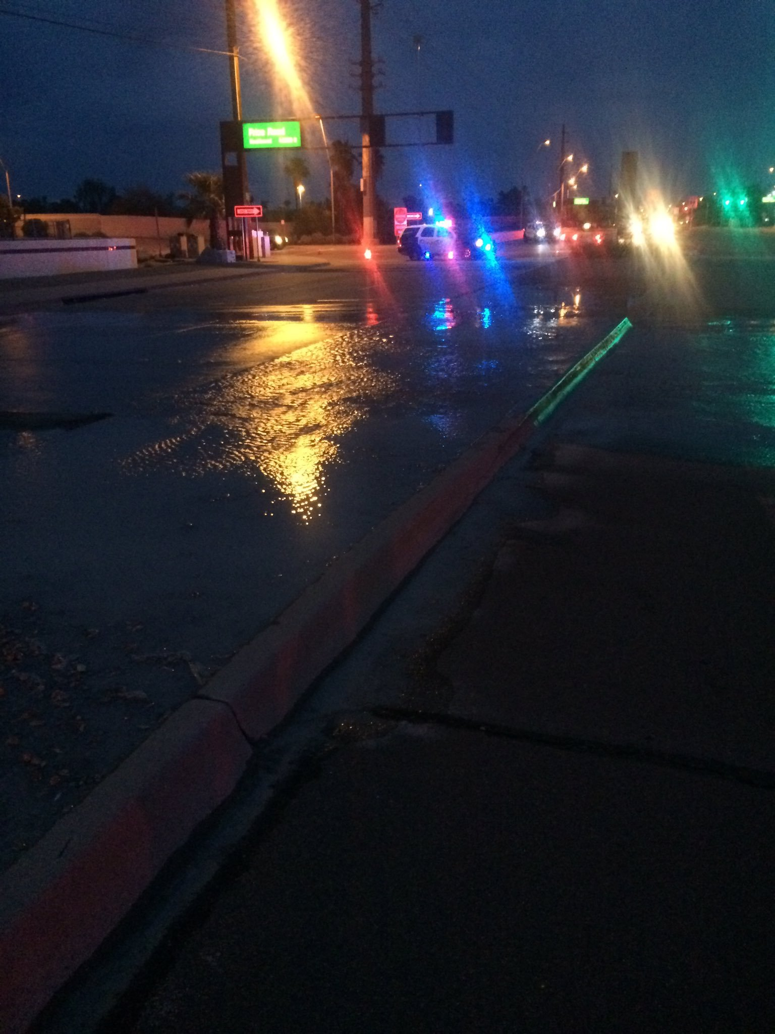 Southern Avenue was closed at Price Road on Friday morning because of water main break. (Source: Tempe Police Dept.)